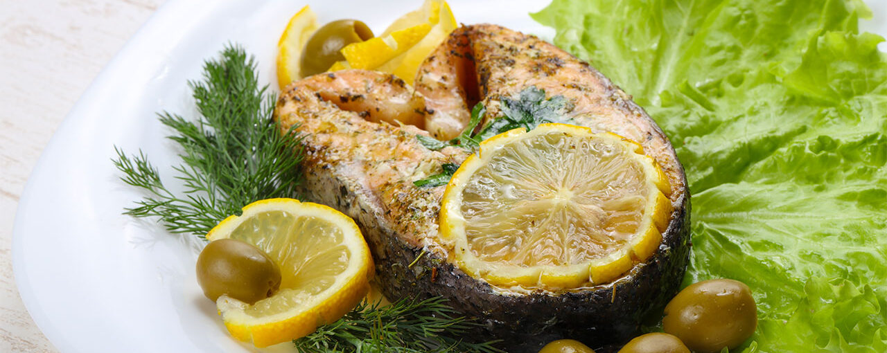 Delicious Oven-Baked Salmon With Herbs And Lemon