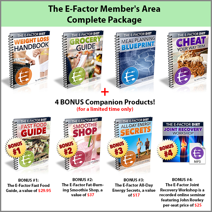 The E-Factor Member's Area Complete Package