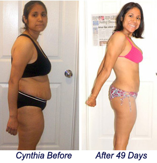 Cynthia before and after
