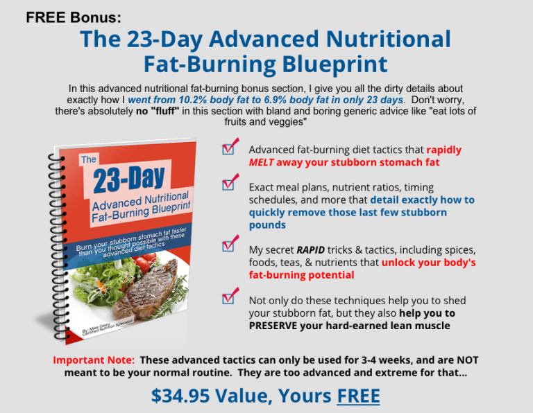 The 23-Day Advanced Nutritional Fat-Burning Blueprint